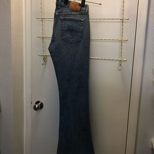 Women blue jeans, Lucky Brand, size 10/30.